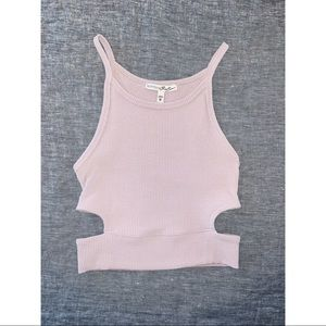 Express cut out pink crop top size XS